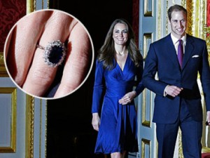 Kate Middleton's hand is adorned by the world's most famous engagement ring, the diamond and sapphire piece was also worn by Prince William's late mother Diana, Princess of Wales.