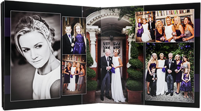 Example of a professionally designed wedding album